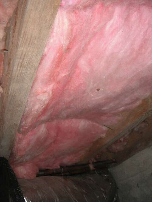replaced insulation after